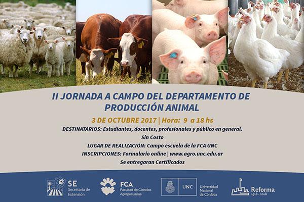 II Jornada a campo del departamento de producción animal